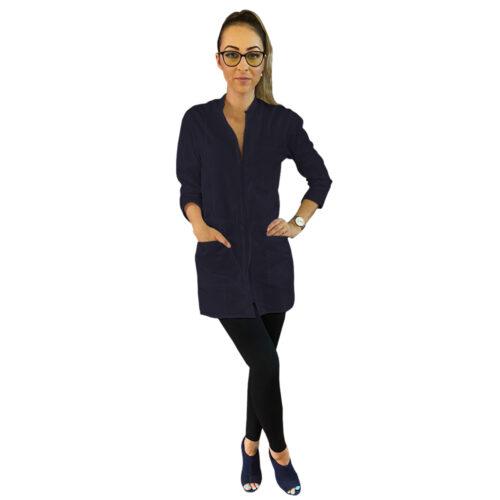 halat medical 3 sferturi pentru femei bleumarin femina medical