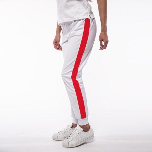 Pantaloni medicali stretch cu contrast si manseta