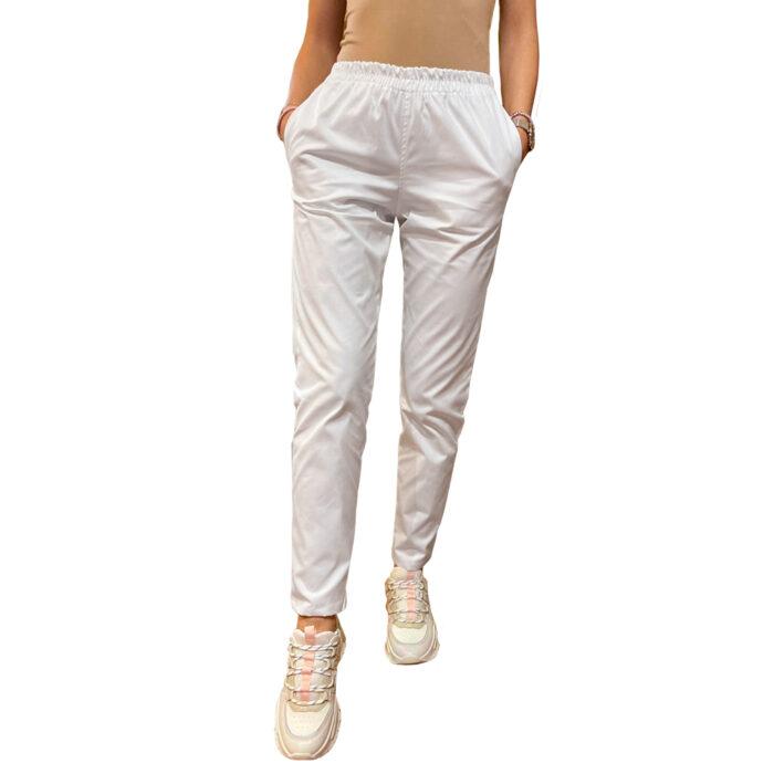 Legging stretch cu betelie elastic alb Femina Medical