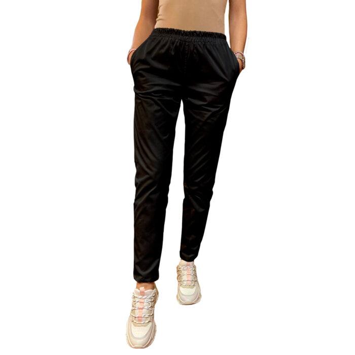 Legging stretch cu betelie elastic negru Femina Medical