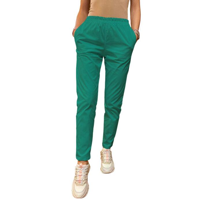 Legging stretch cu betelie elastic verde menta Femina Medical