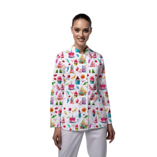 Jacheta medicala cu maneca lunga MIA Cupcakes Femina Medical