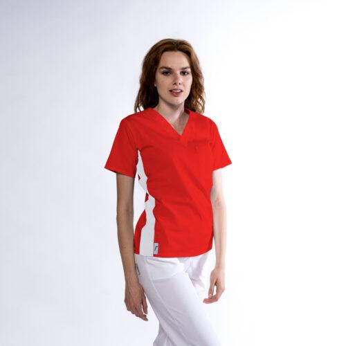 Bluza medicala Kult cu contrast lateral